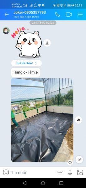 Sử dụng bạt HDPE chống thấm sân thượng và bể nước có được không?